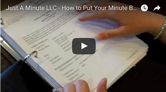 How To Put Your Minute Book Together